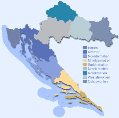 Regionen Kroatiens